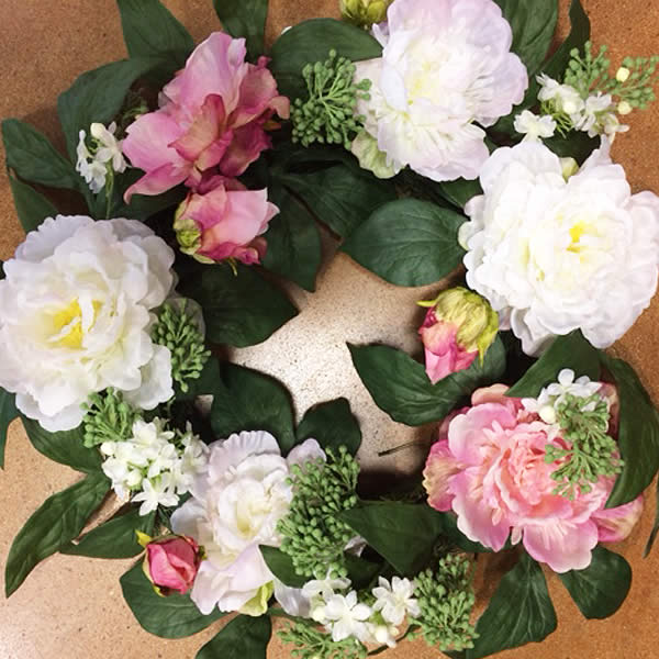 Faux-flowering wreaths